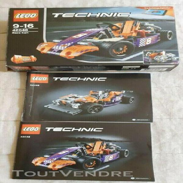 Lego technic 42048 le karting 2 en 1 tres bon etat +bolide l