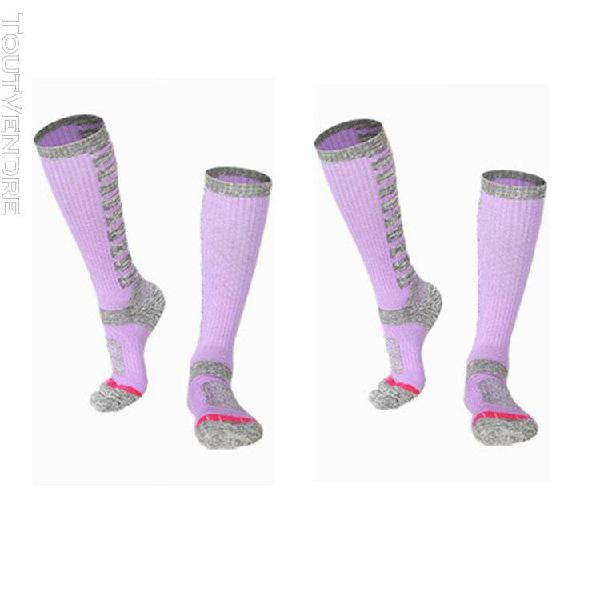 lot de 2 chaussettes de ski femme randonnée alpinisme en