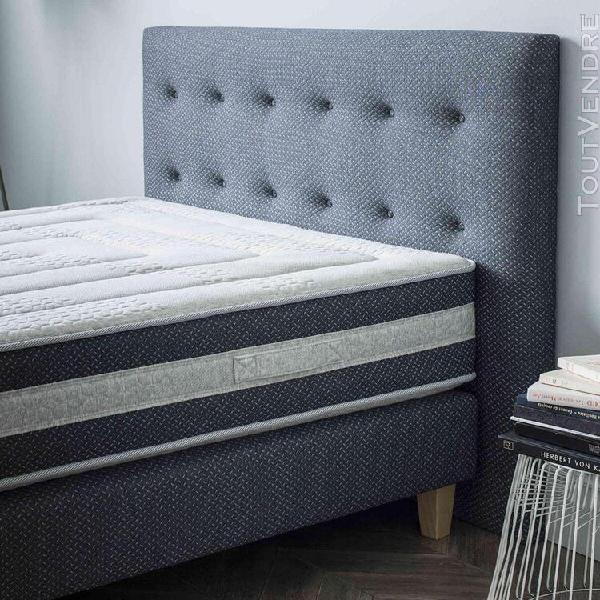 Tête de lit déco capitonnée bleu nuit 160 - someo