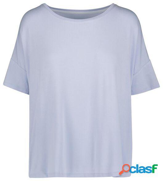 Hema t-shirt de nuit femme bleu clair (bleu clair)