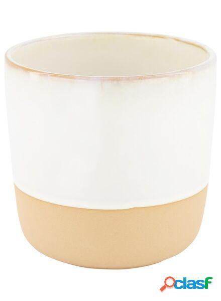 Hema cache-pot - 13 cm x ø 13 cm - céramique blanc