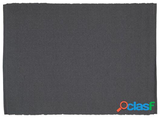 Hema 2 sets de table en tissu (gris)