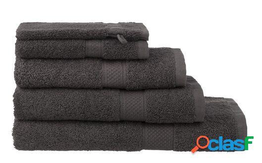 Hema serviettes de bain - qualité épaisse gris foncé (gris foncé)
