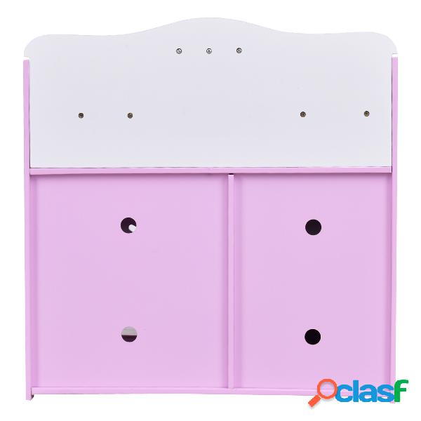 Cuisine pour enfant en bois cuisine de jouets cuisine de jeux cuisine éducatif jeux de rôle rose et blanc