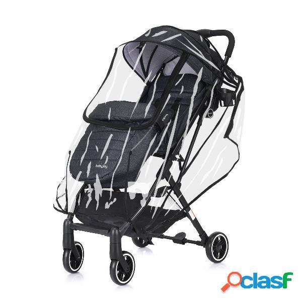 Costway poussette bébé enfant 4 roues combiné 2 en 1 pliable ultra compacte landau avec la ceinture de sécurité cinq points noir