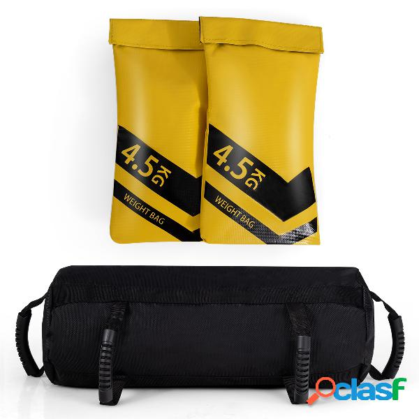 Costway fitness sacs de sable lourds haltérophilie pour l'entraînement renforcé pour musculation exercise 9 kg