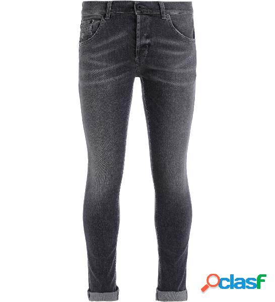 Jeans dondup ritchie motif délavé noir