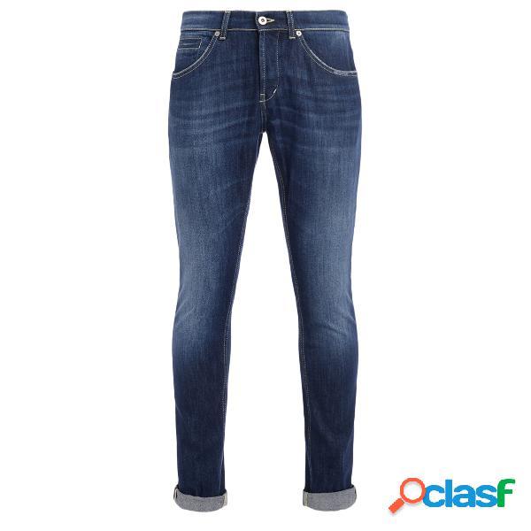Jeans dondup george bleu effet délavé