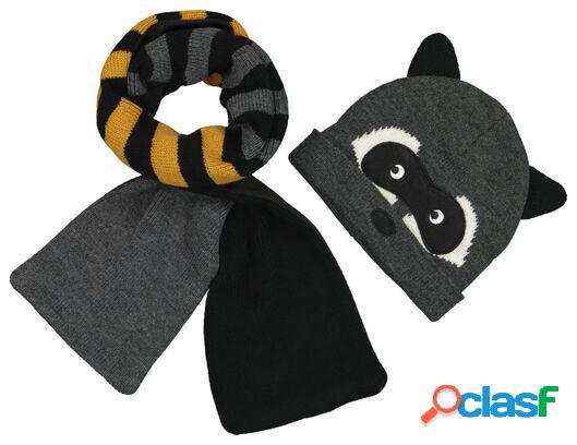 Hema bonnet et écharpe enfant raton laveur