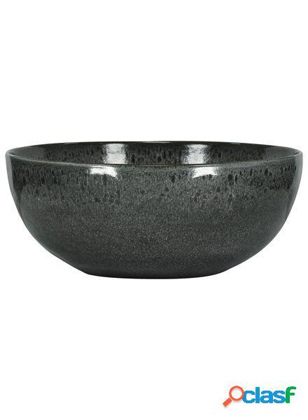 Hema grand bol 26 cm - porto émail réactif - noir (noir)