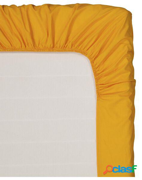 Hema drap-housse - coton doux - 90 x 200 cm - ocre (ocre)