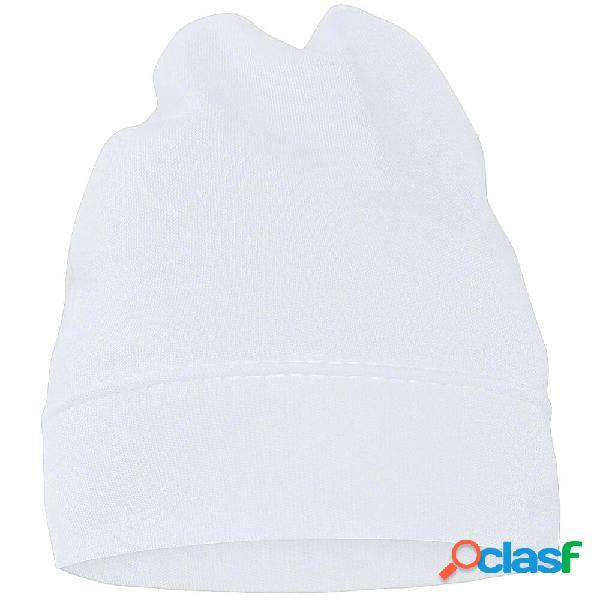 Bonnet bébé avec prénom de votre enfant (7 couleurs au choix) - blanc 42 (jusqu'à 3 mois)