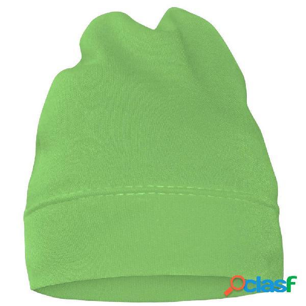 Bonnet bébé avec prénom de votre enfant (7 couleurs au choix) - vert 42 (jusqu'à 3 mois)