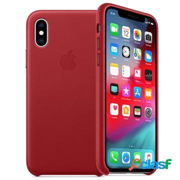 Coque en cuir iphone xs apple mrwk2zm/a - rouge