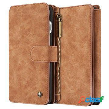 Iphone 7 plus caseme multifunctional wallet leather case - brown