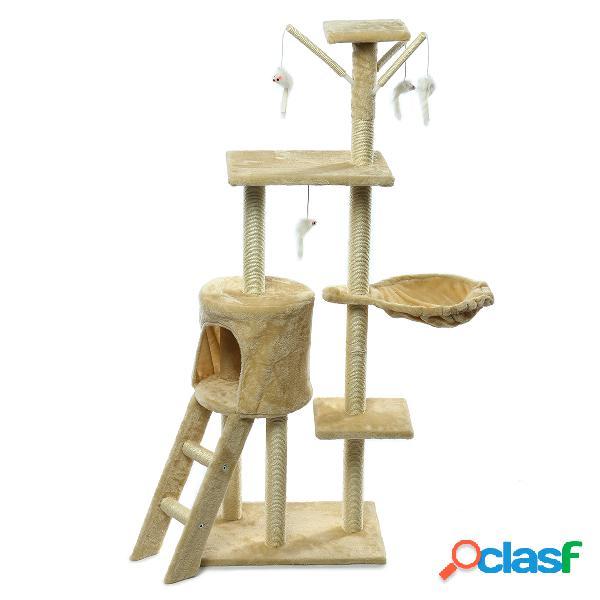 Chat animal de compagnie griffoir post arbre scratcher pole meubles gym maison jouet