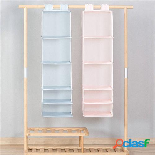 Original xiaomi mi maison 5 couches pendaison placard organisateur ménage pendaison pliable sac de rangement