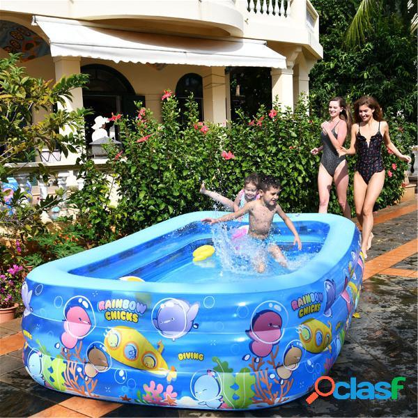 Piscine gonflable enfants piscine familiale adulte pataugeoire cartoon poussin rainbow pool