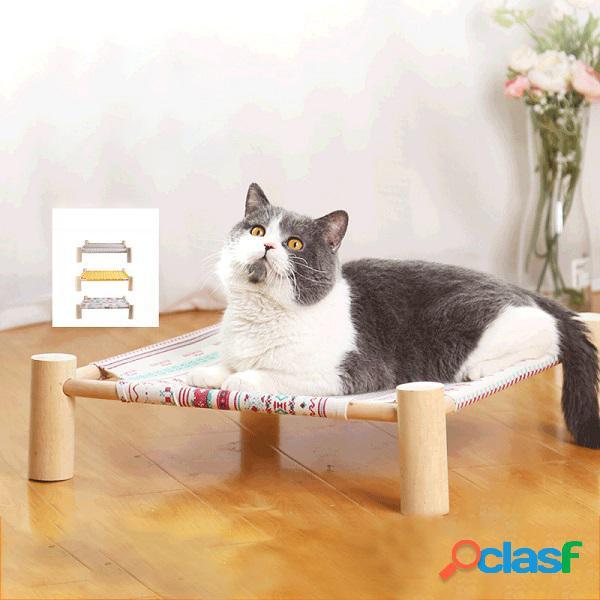 Hamac de chat quatre coins litière de chat amovible hamac cat