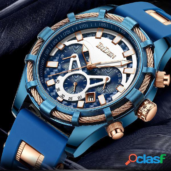 Travail étanche petits cadrans hommes montres montre à quartz multifonctionnelle de style d'affaires