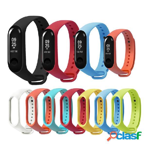 Remplacement silicone sports soft dragonne bracelet bracelet pour xiaomi mi band 3/4