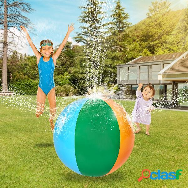 Ballon de plage de jet d'eau gonflable d'été jouer en plein air pelouse d'eau jouer au ballon balle de jouet pour enfants