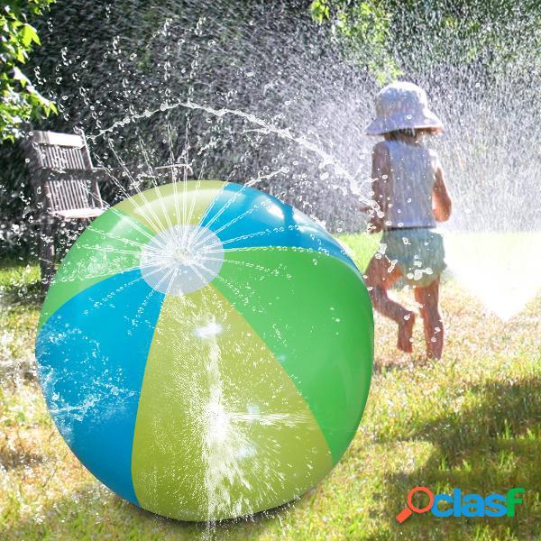 75 cm gonflable grande pulvérisation d'eau balle d'été enfants en plein air jouer boule d'eau pulvérisation d'eau ballon de plage pelouse jouer jouet balle