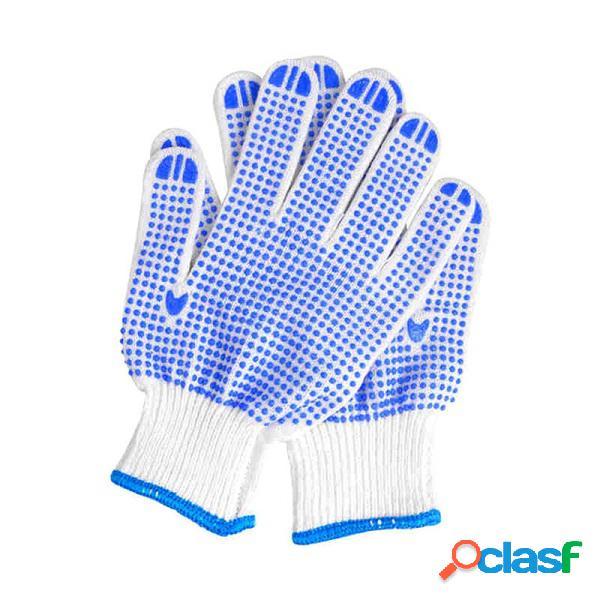 Protection du travail gants résistant à l'usure antidérapante blue plastic dot gloves light confortable garden