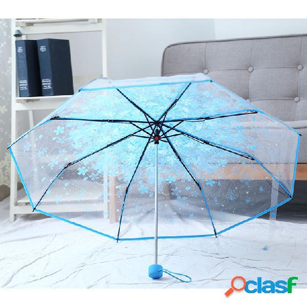 Saiclehome parapluie transparent à sakura en peva