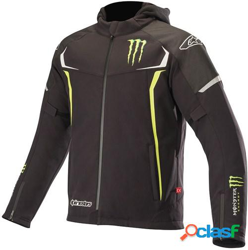 Alpinestars monster orion techshell drystar, veste moto textile hommes, noir-vert