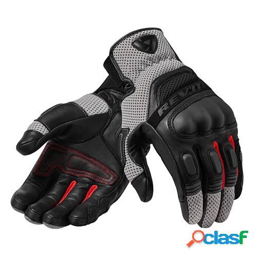 Rev'it! dirt 3, gants moto d'été, noir-rouge