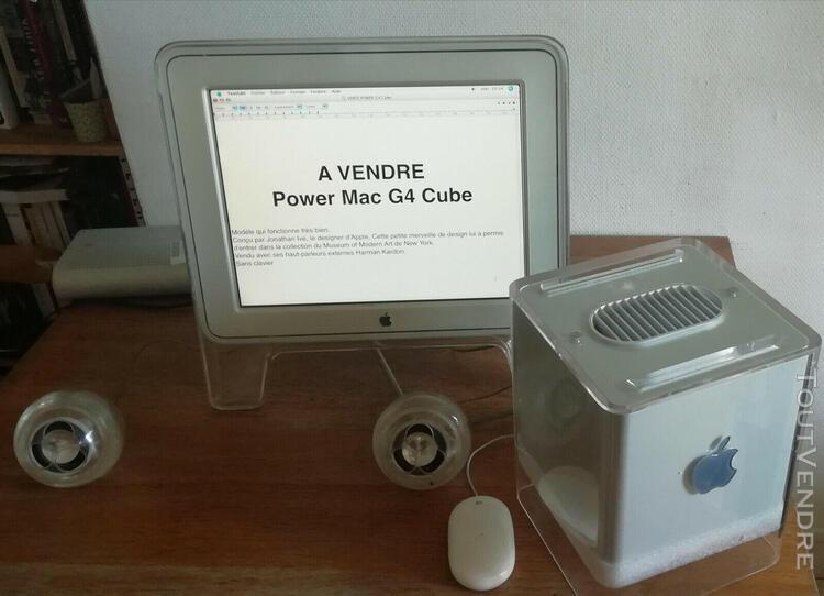 "Apple mac power mac g4 cube + écran display studio 15 """