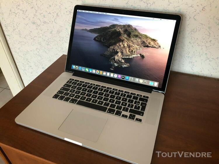 "Apple macbook pro 15.4"" 256go ssd 8go ram mac osx catalina"