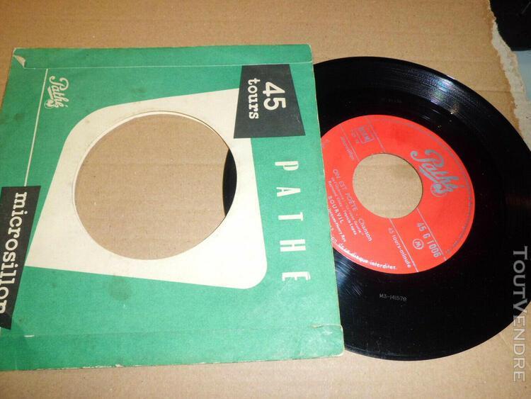 """Bourvil juke box 45 tours ep 7"""" vinyle / pathé – pg"""