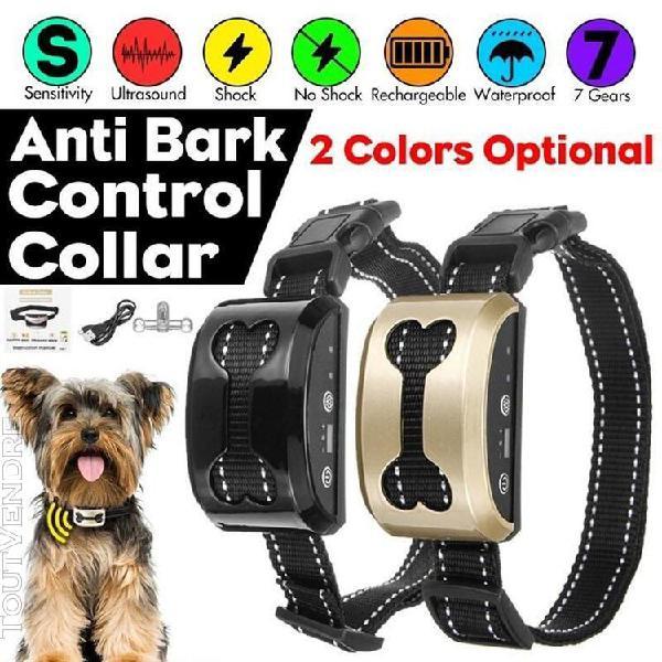 Collier de chien dispositif anti-aboiement usb charge collie