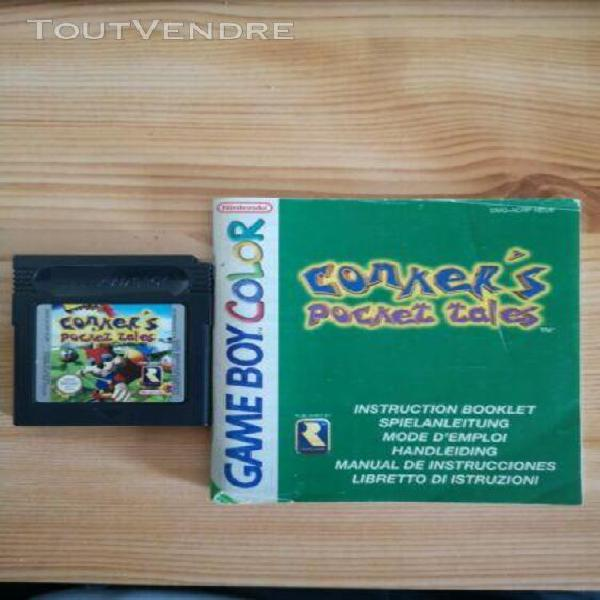 Conker's pocket tales + notice - jeu nintendo game boy