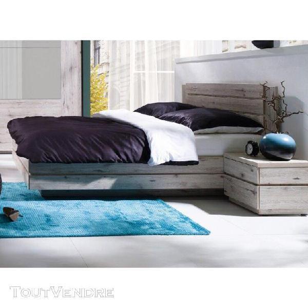 Ensemble riccardo pour chambre à coucher. lit coffre 160,