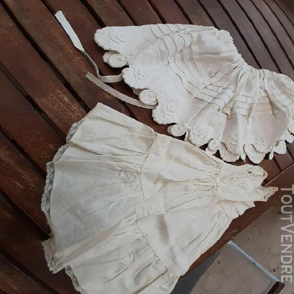 Fond de robe poupée.+jupon ancien