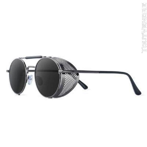 Jasber lunettes de soleil à monture métallique ronde