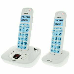 Logicom confort 255t duo téléphone sans fil répondeur