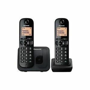 Panasonic téléphone dect duo noir sans répondeur