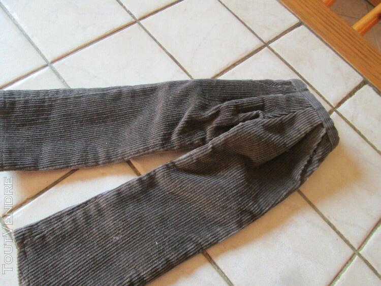 pantalon en velours marron d'origine en bon état pour