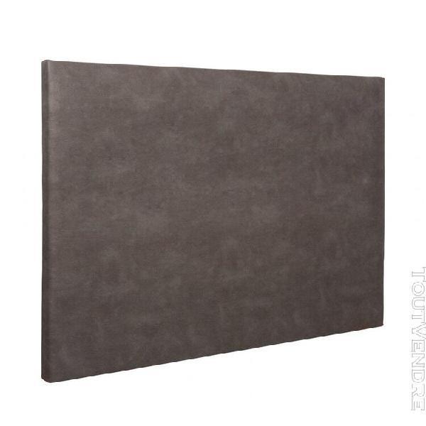 Tête de lit déco simili cuir chocolat 160 - someo