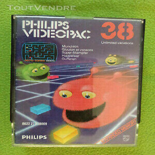 videopac 38 glouton et voraces munchkin - jeu complet videop