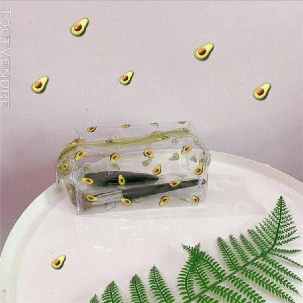Voyage transparent sac cosmétique pvc femmes fermeture