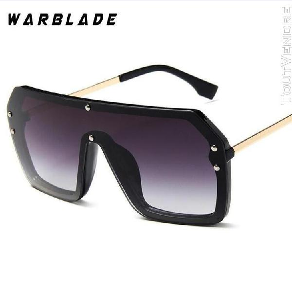 Warblade 2019 mode vintage surdimensionné carré lunettes