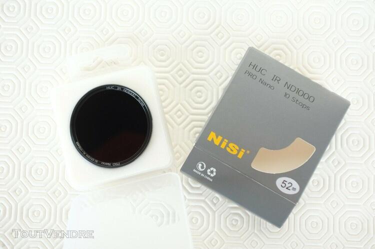 Filtre gris neutre nisi pro nano 10 stops 52 mn