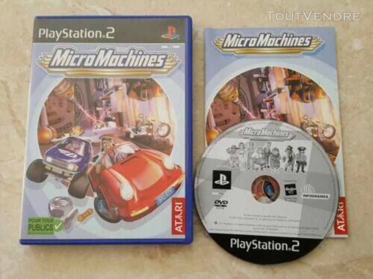 Jeu playstation 2 ps2 micro machines pal notice