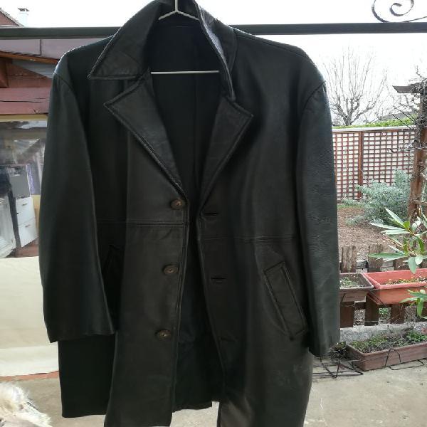 Manteau cuir noir t 54 occasion, corbas (69960)