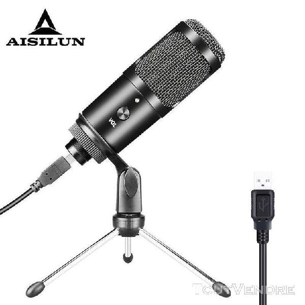 Prise usb podcast microphone trépied de bureau support